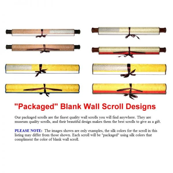 Packaged Wall Scroll Design